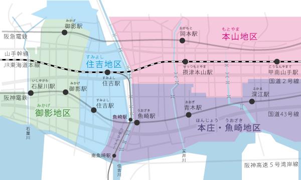 だんじり地区マップ